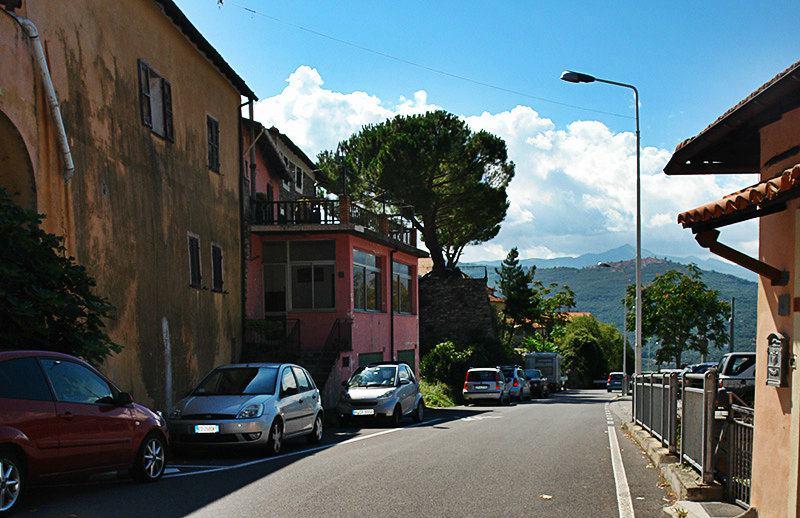 A beautiful street in Gazzelli, Liguria