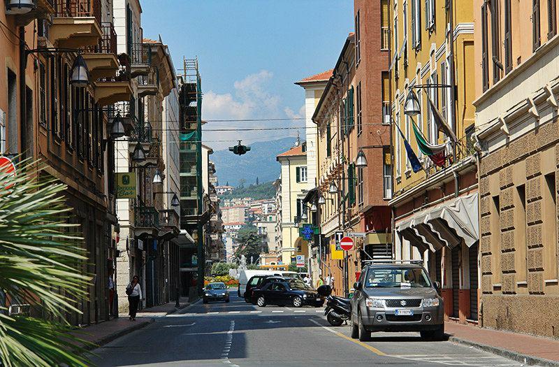 A beautiful street in Imperia, Oneglia