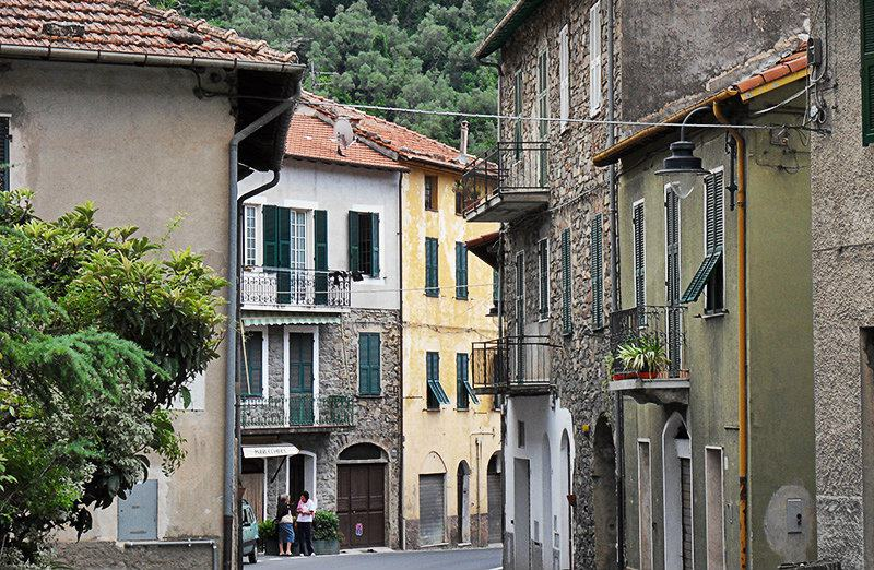 A typical ligurian street in Badalucco