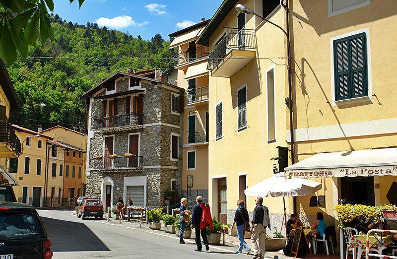 A beautiful street in Pigna, Liguria