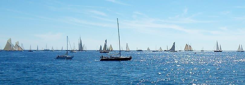 Sailing boats in Imperia during Vele d'Epoca