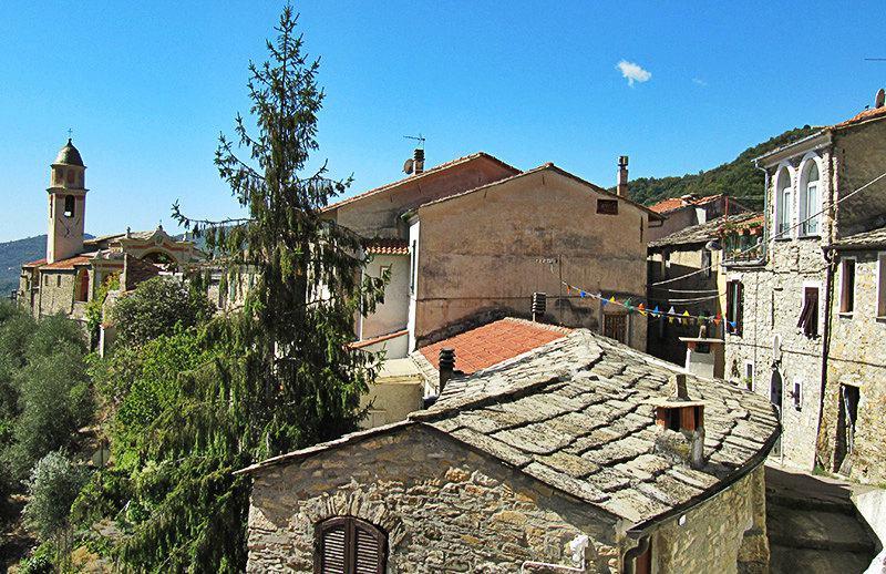 A beautiful view of the houses in Molini di Triora