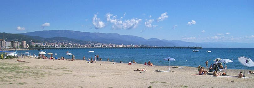 Beach in the province of Savona, Liguria
