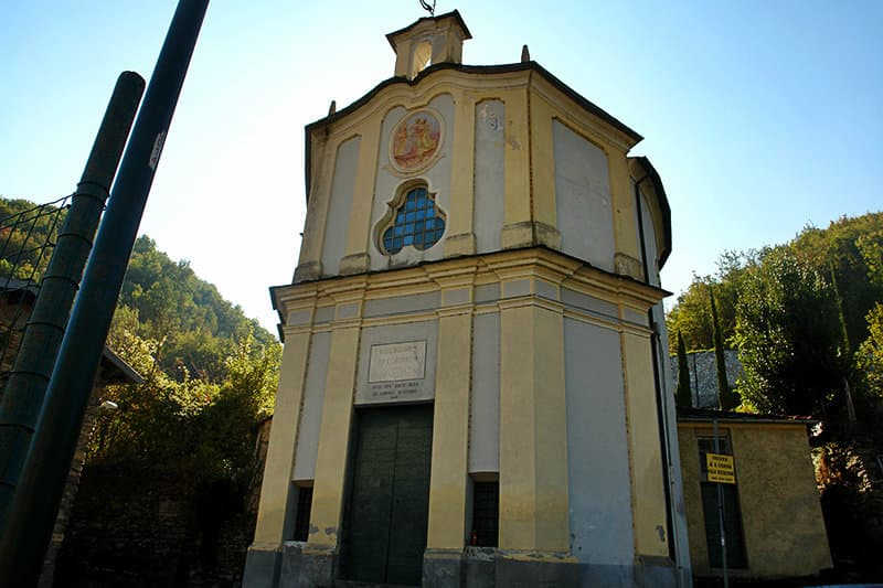 Visit the ruins of a beautiful church of Sant'Andrea in Vessalico