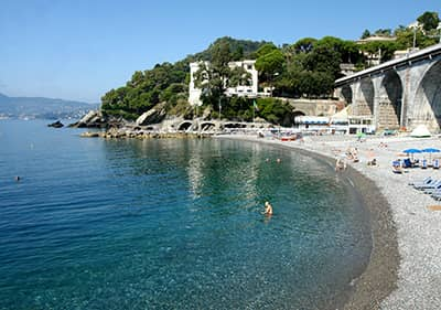 Beach in Zoagli, Liguria