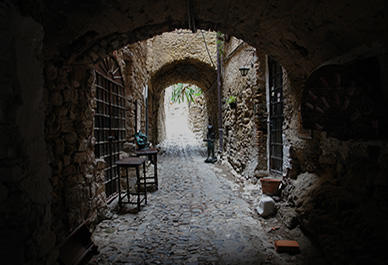 The artist village of Bussana Vecchia